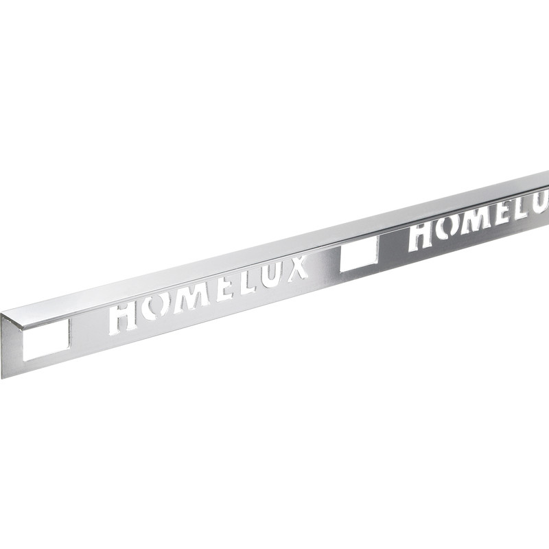 Homelux Stainless Steel Effect Straight Edge Tile Trim