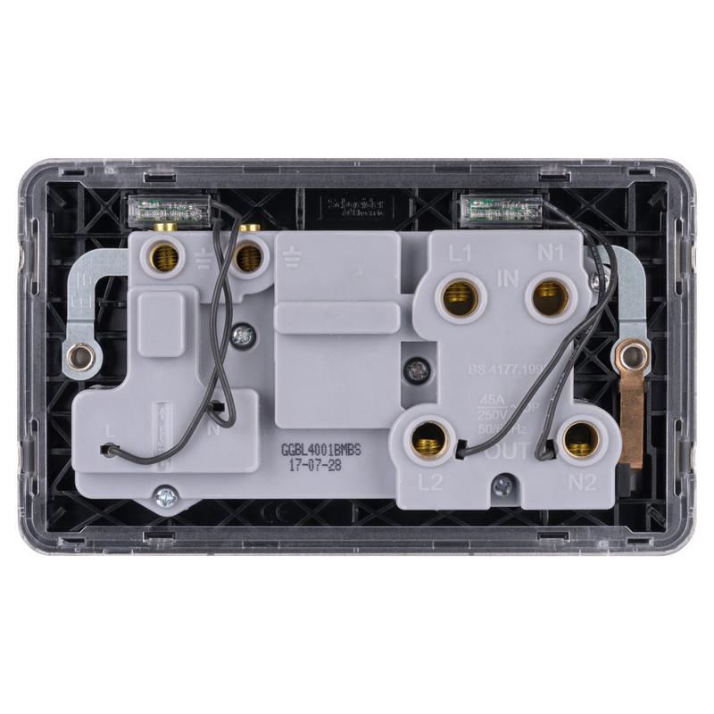 Schneider Electric Lisse Mocha Bronze Screwless 45A DP Cooker Switch