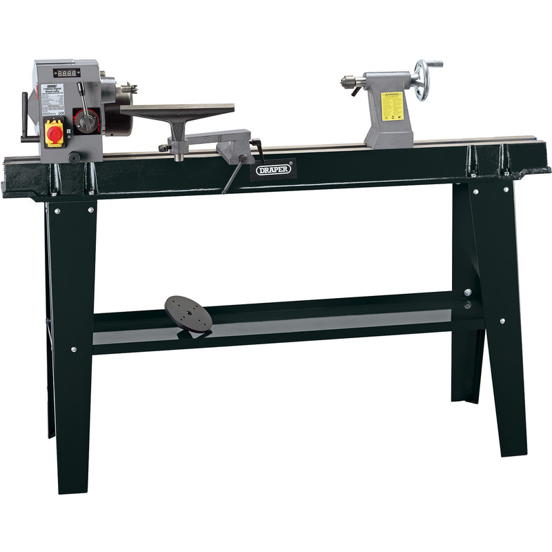 Draper 750W Variable Speed Wood Lathe with Digital Display