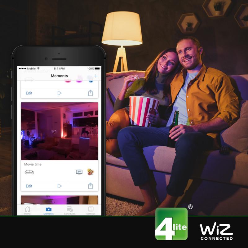 4lite WiZ LED GU10 Smart WiFi Bulb RGBWW