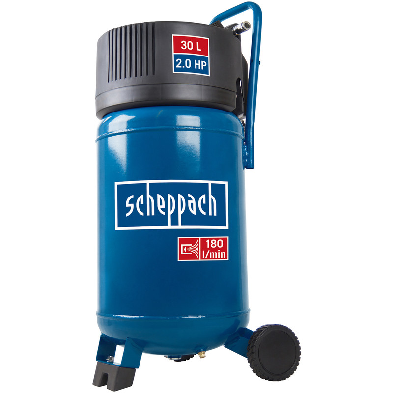 Scheppach HC30V 2.0 HP 30L Oil-Free Vertical Air Compressor - 10 bar
