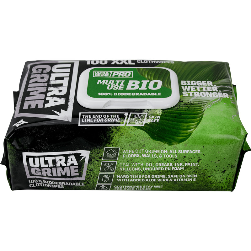 Ultragrime Pro XXL+ Biodegradable Clothwipes
