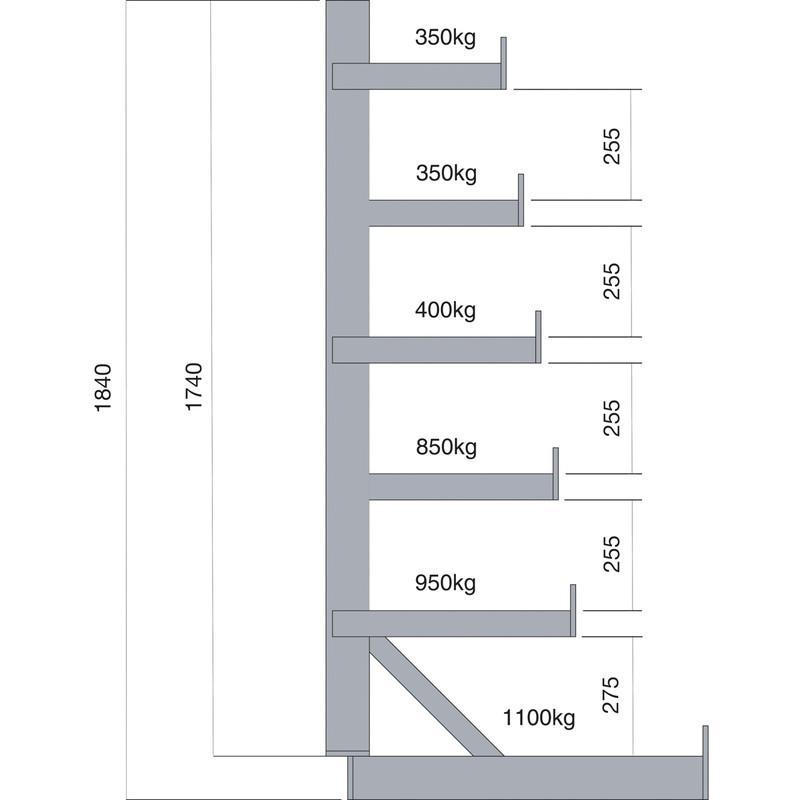Barton 6 Tier Single Heavy Duty Horizontal Bar Rack