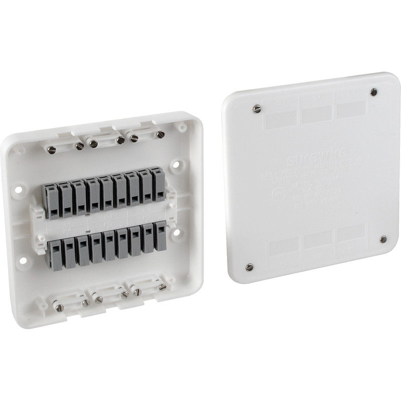 Surewire 6 Way Pre-wired Lighting Spur Junction Box