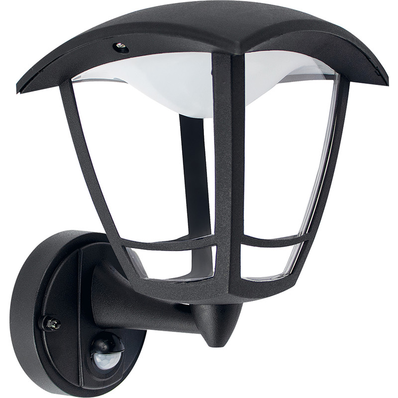 Luceco Exterior LED 4 Panel PIR Coach Lantern IP44