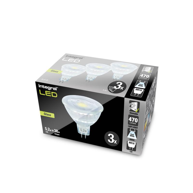 Integral LED 12V MR16 GU5.3 Dimmable Glass Lamp