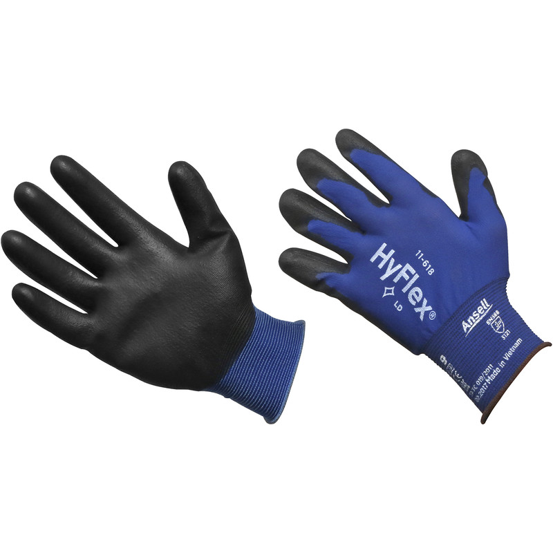 Ansell Hyflex 11-618 Lightweight PU Palm Gloves