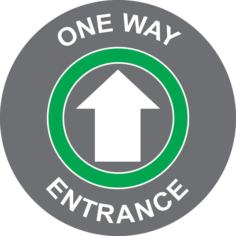 'One Way - Entrance' Floor Graphic