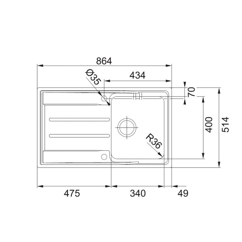 Franke Aton Reversible Stainless Steel Kitchen Sink & Drainer
