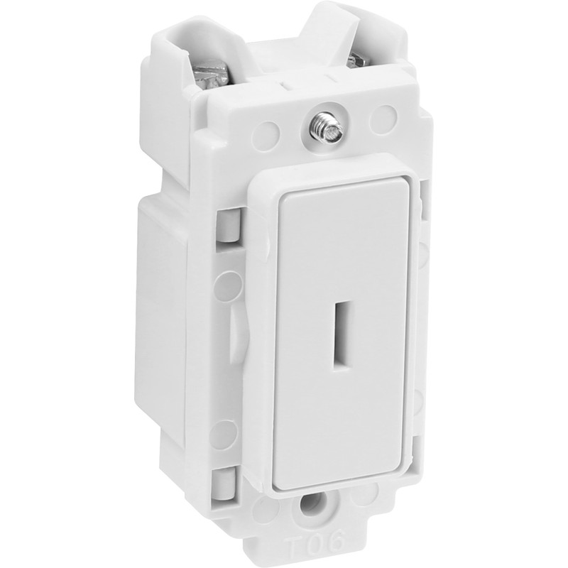 Crabtree Rockergrid 20A Key Switch Module