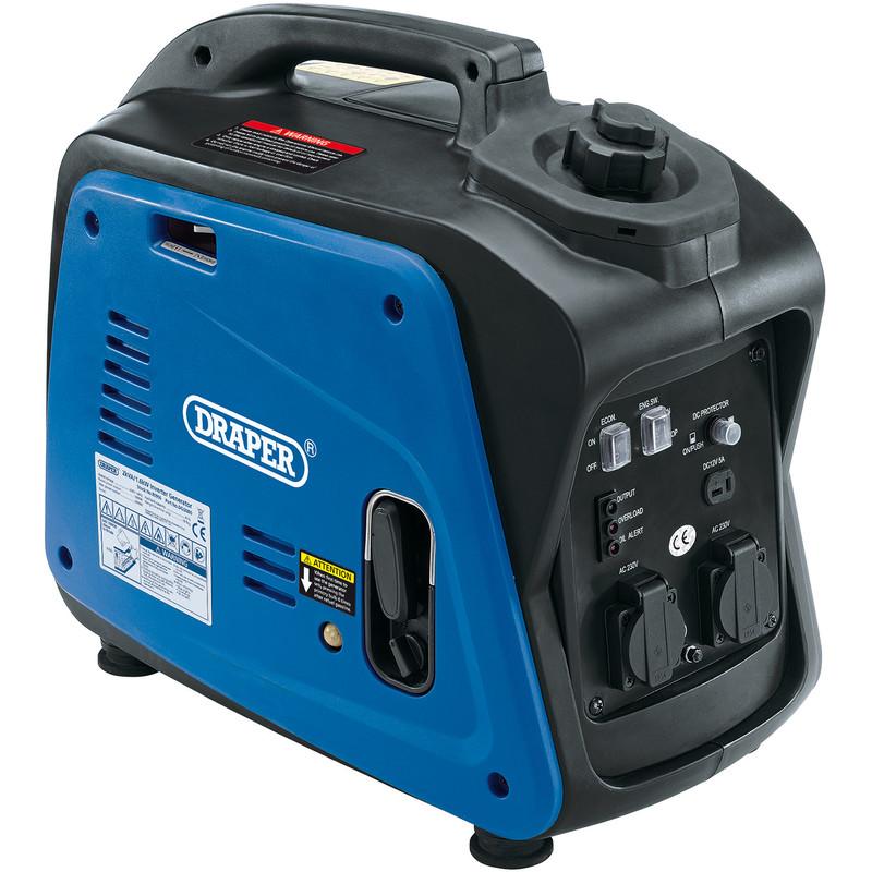 Draper 2.0KVA/1600W Petrol Inverter Generator