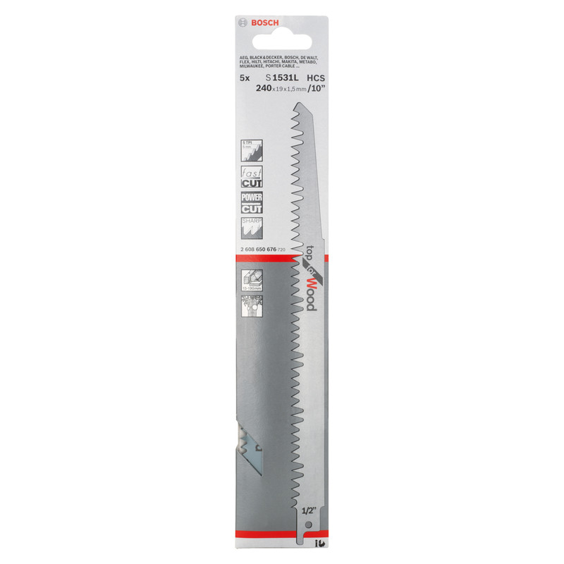 Bosch Sabre Saw Blade Wood S1531L