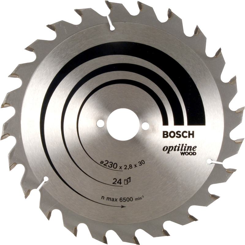 Bosch tct optiline circular saw blade 230 x 30mm x 24t greentooth Image collections