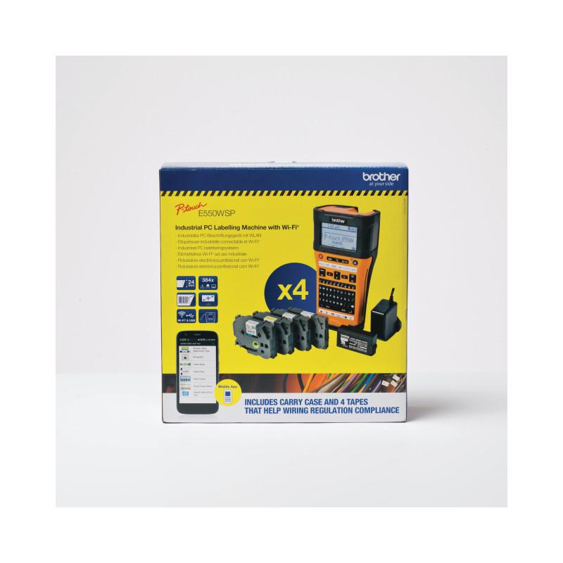 Brother PTE550WSP Handheld Label Printer