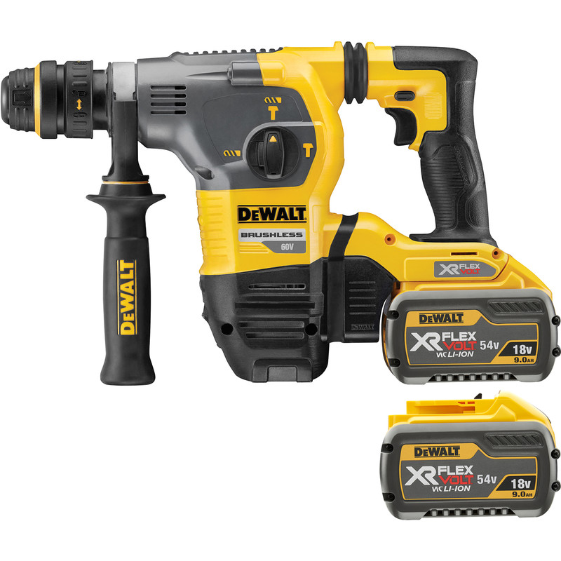 dewalt dch333x2 gb 54v xr flexvolt sds plus hammer drill 2. Black Bedroom Furniture Sets. Home Design Ideas