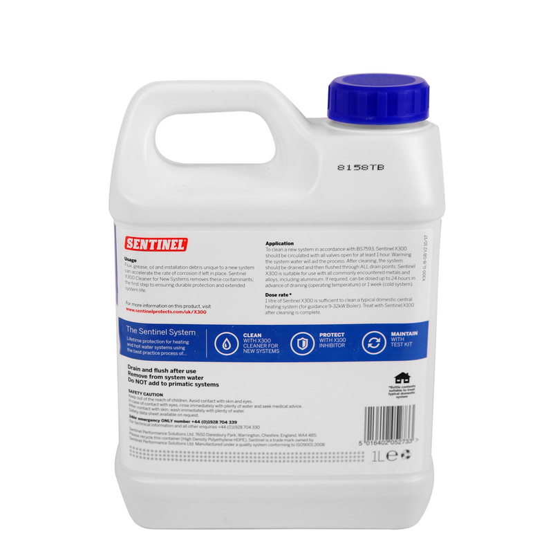 Sentinel X300 Cleaner for New Systems