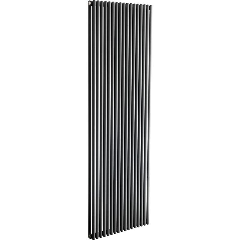 Tesni Azal Double Panel Vertical Designer Radiator 1800 X 420mm 3409Btu Anthracite
