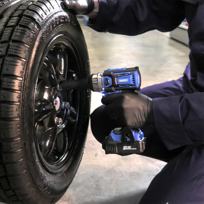 Draper D20 20V Compact Brushless Cordless Impact Wrench
