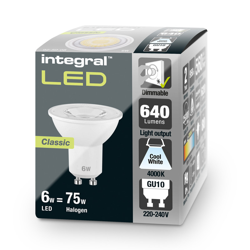 Integral LED Classic GU10 Dimmable Lamp