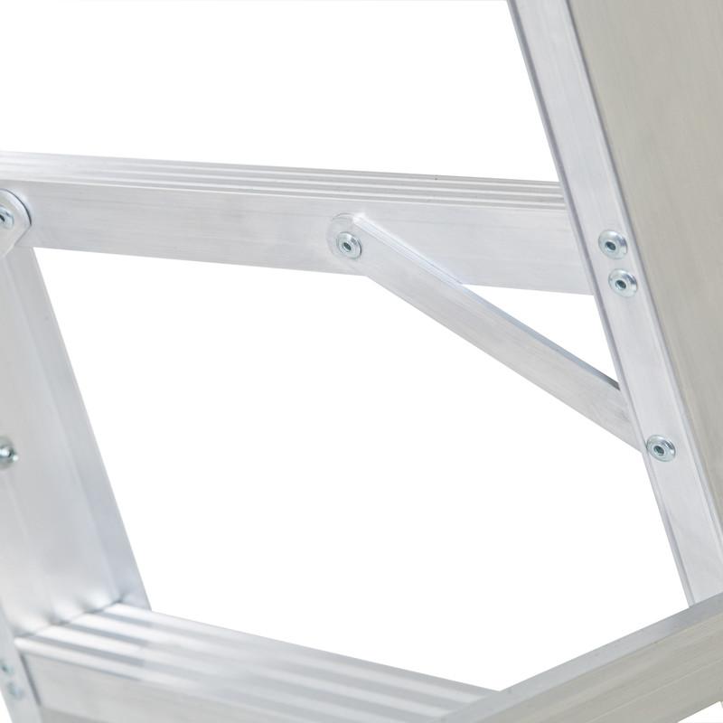 Lyte Industrial Swingback Aluminium Step Ladder