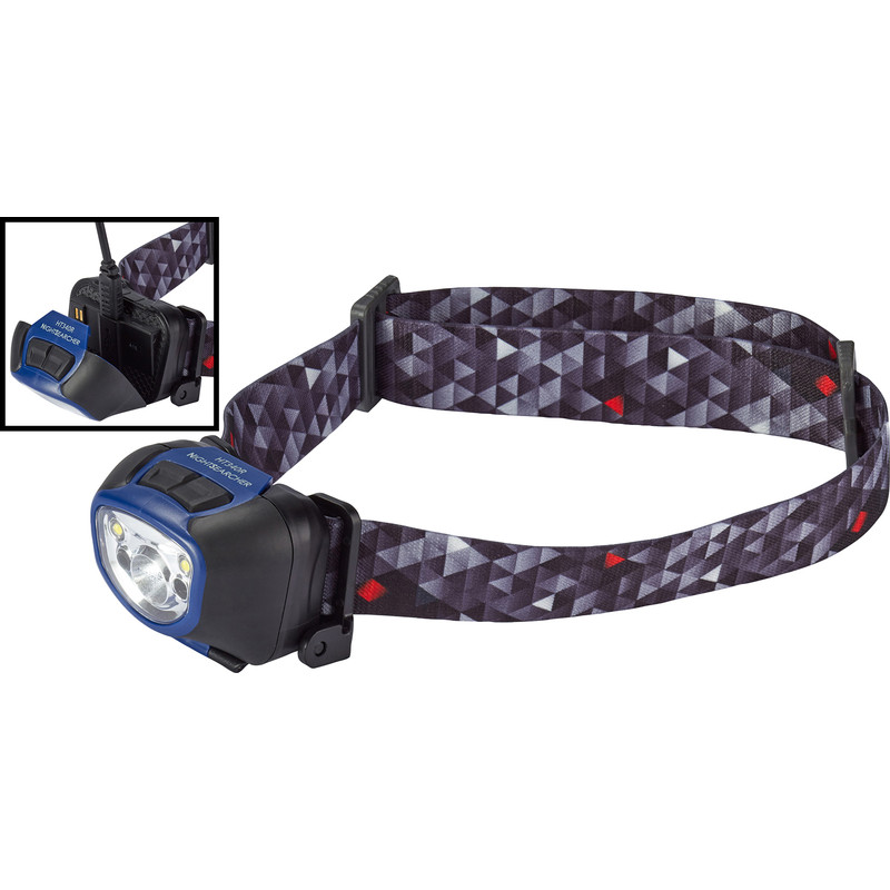 Nightsearcher NSHT340R LED USB Rechargeable Head Torch