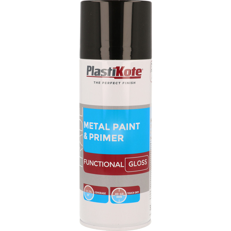 Plastikote Metal Paint & Primer Spray Paint 400ml