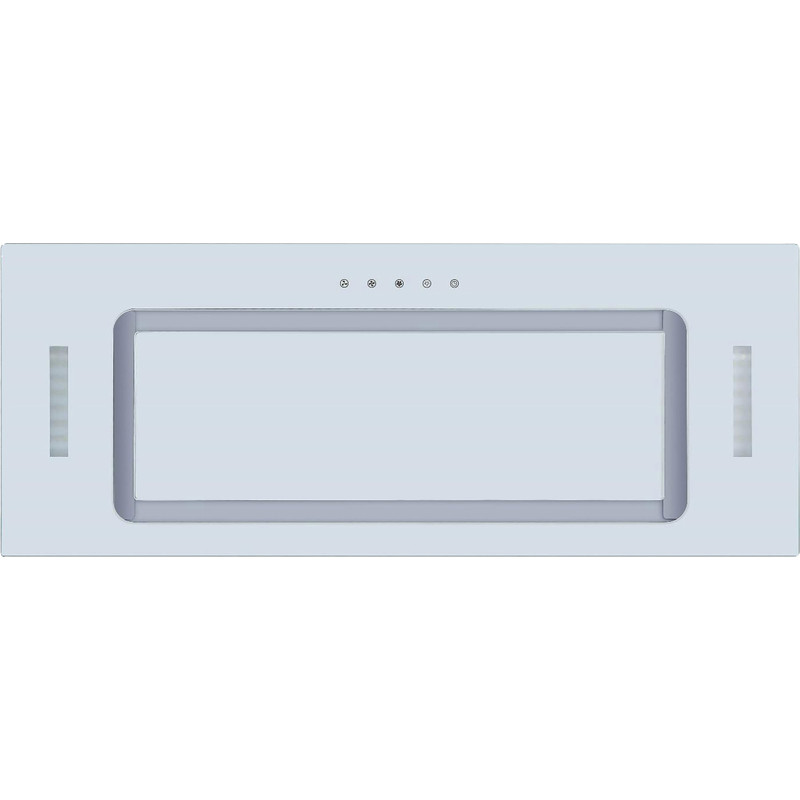 Culina White Glass Canopy Extractor Hood