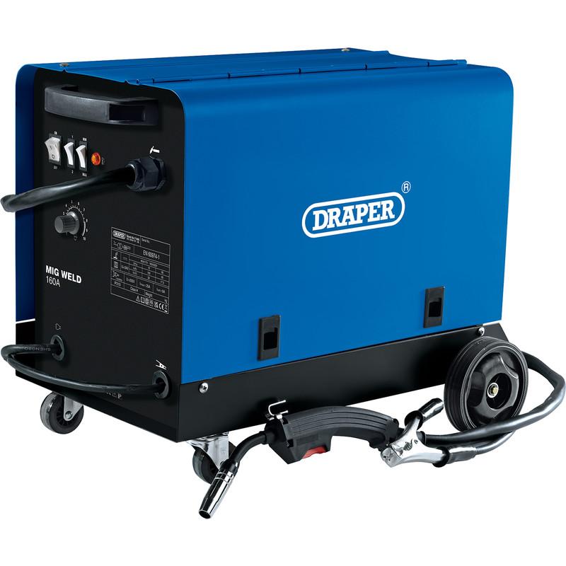 Draper 160A MIG Gas/Gasless Welder