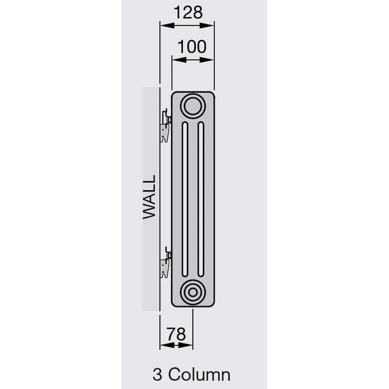 Arlberg 3-Column Vertical Radiator