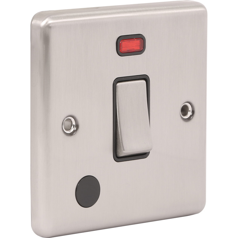 Wessex Brushed Stainless Steel 20A DP Switch