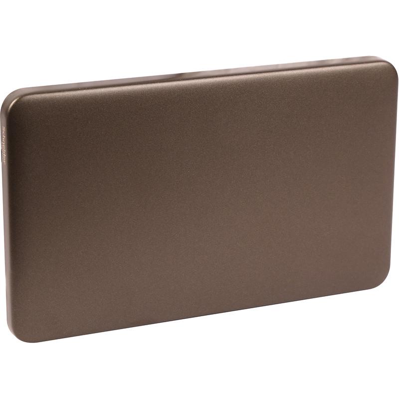 Schneider Electric Lisse Mocha Bronze Screwless Blank Plate