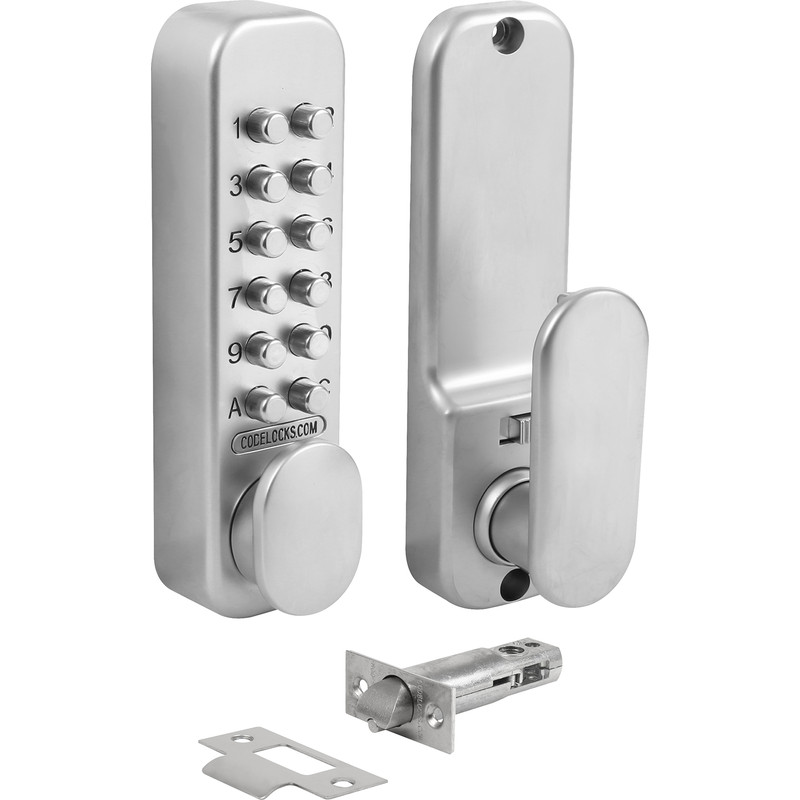 Codelocks CL160 Easicode Tubular Mortice Latch with Dual Function Backplate