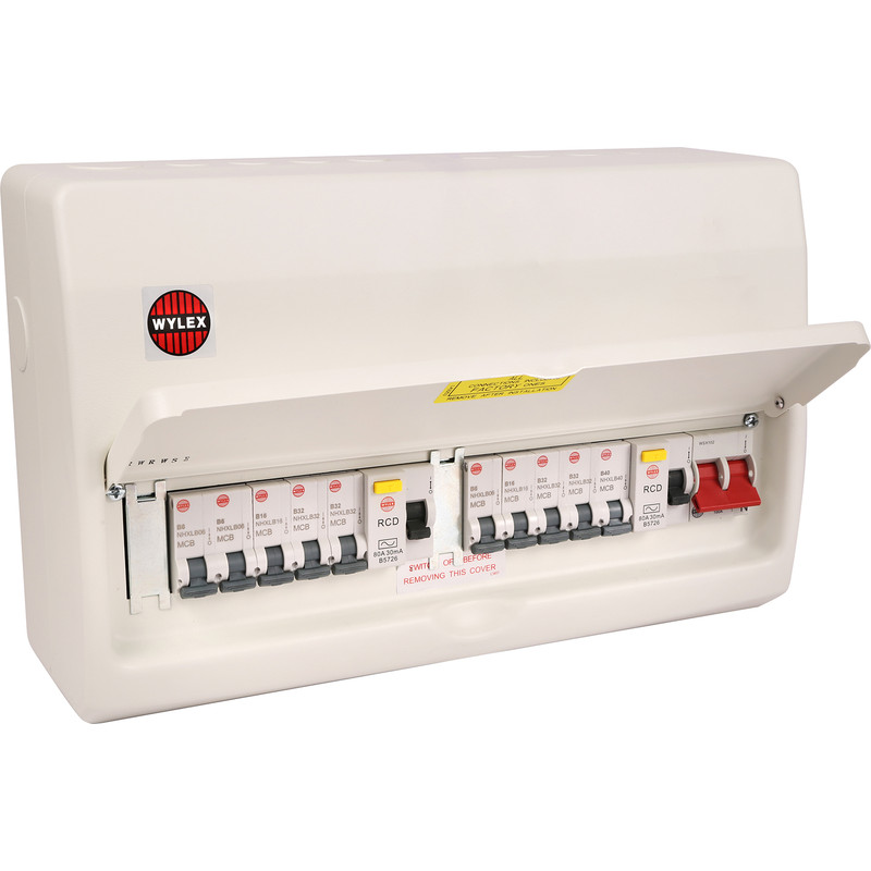 Wylex NMX Metal 17th Edition Amendment 3 High Integrity + 10 MCBs Consumer Unit