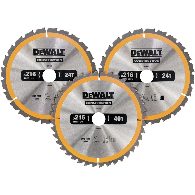 DeWalt Construction Circular Saw Blades