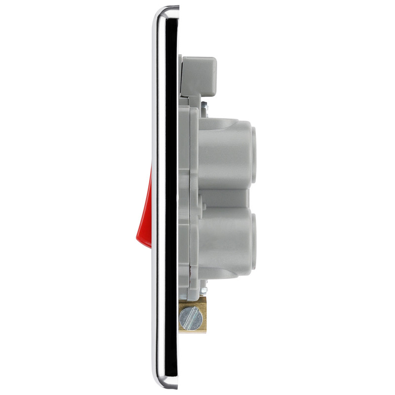 BG Polished Chrome 45A Double Pole Switch