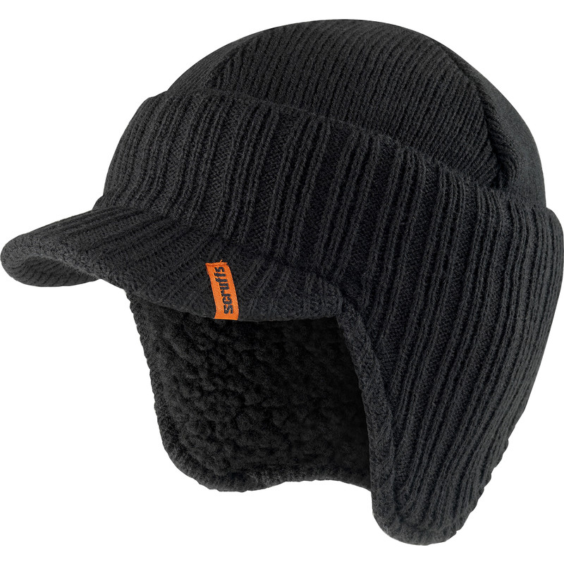 Scruffs Peaked Knitted Hat One Size