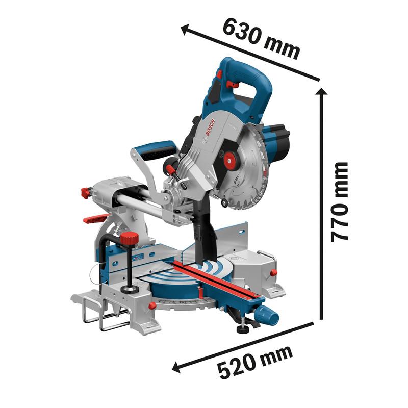 Bosch 18V Bi Turbo Cordless BrushlessMitre Saw GCM 18V-216 216mm
