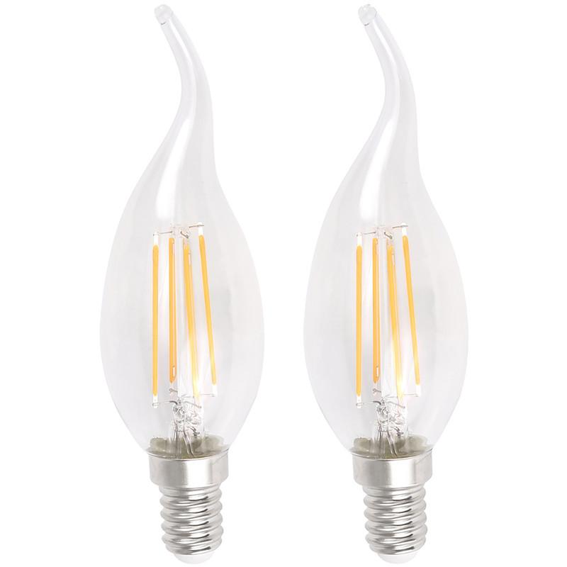 LED Filament Flame Tip Candle Lamp 4W SES (E14) 450lm