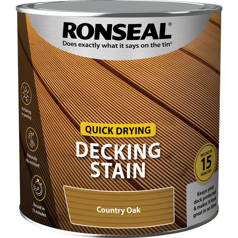 Ronseal Quick Drying Decking Stain 2.5L