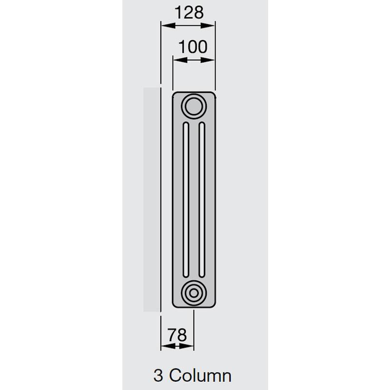 Arlberg 3-Column Horizontal Radiator