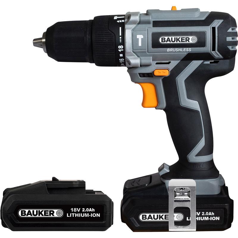 Bauker 18V Cordless Brushless Combi Drill