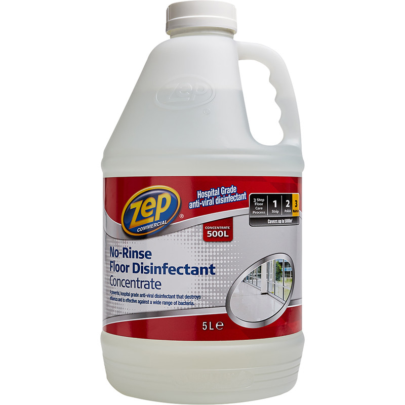 Zep Commercial Hospital Grade No Rinse Floor Disinfectant