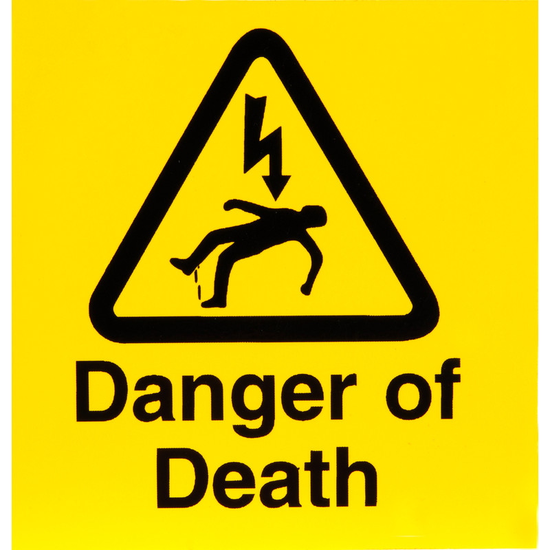 Electrical Warning Signs Danger Of Death