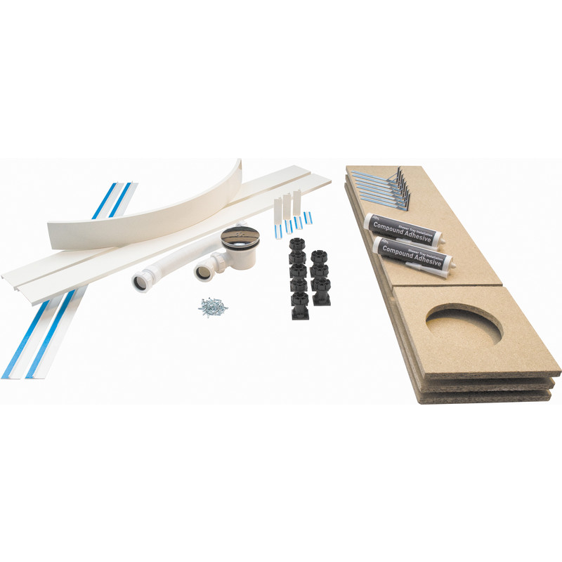 Universal Easy Plumb Shower Tray Kit