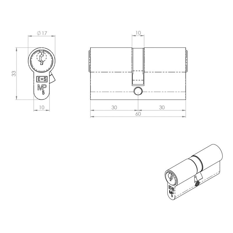 Eurospec Euro Double Cylinder