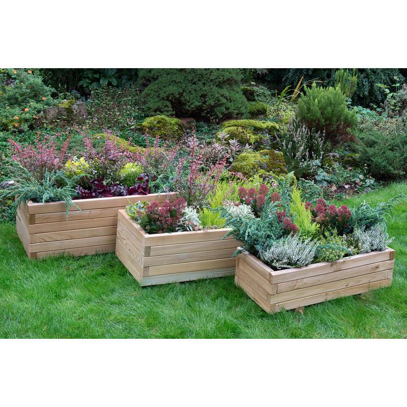 Forest Garden Durham Rectangular Planter
