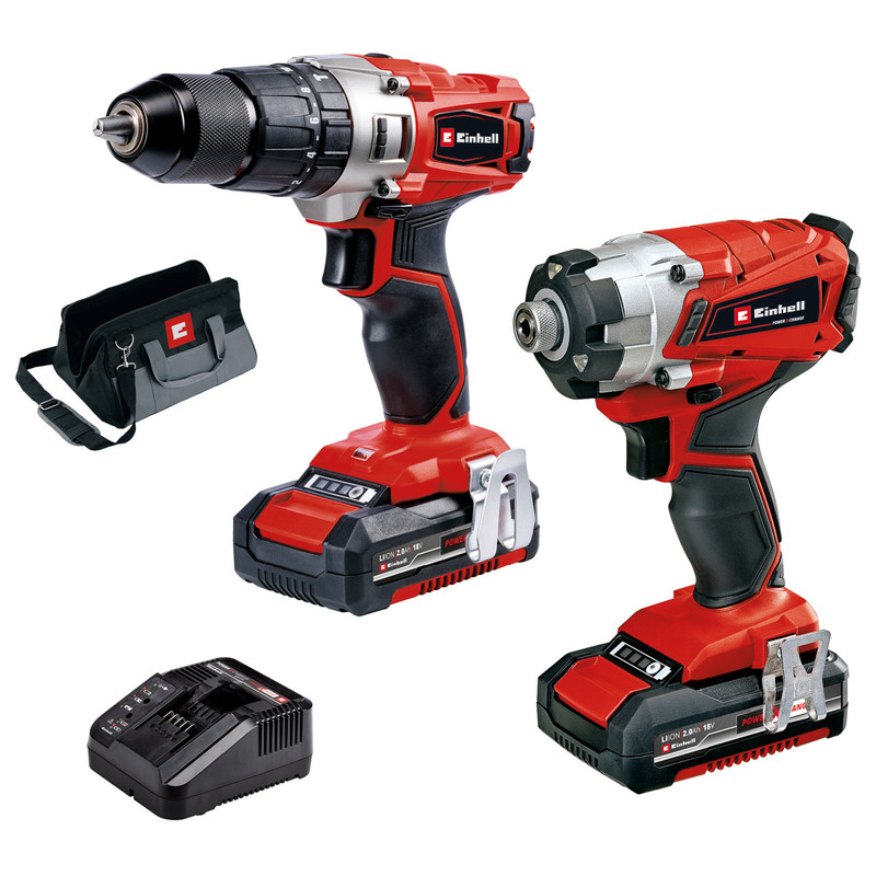 Einhell 18V Cordless Combi Drill & Impact Driver Twin Pack