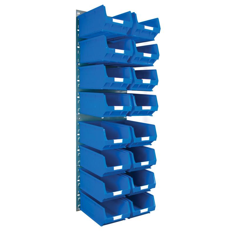 Barton Steel Louvre Panel with Blue Bins