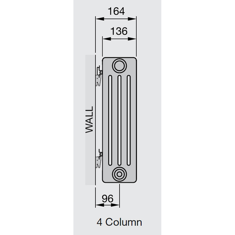 Arlberg 4-Column Vertical Radiator