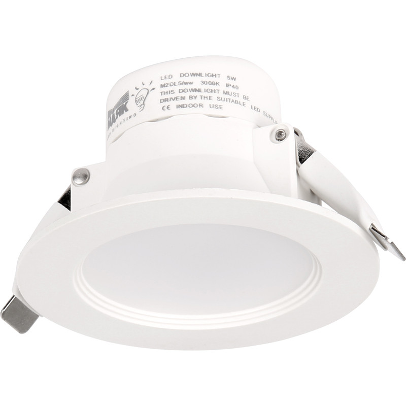 Mark Lighting Led 5w Ip40 Fixed Downlight Cool White 4000k 443lm